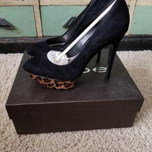 New Bebe Veronica Leopard Heels